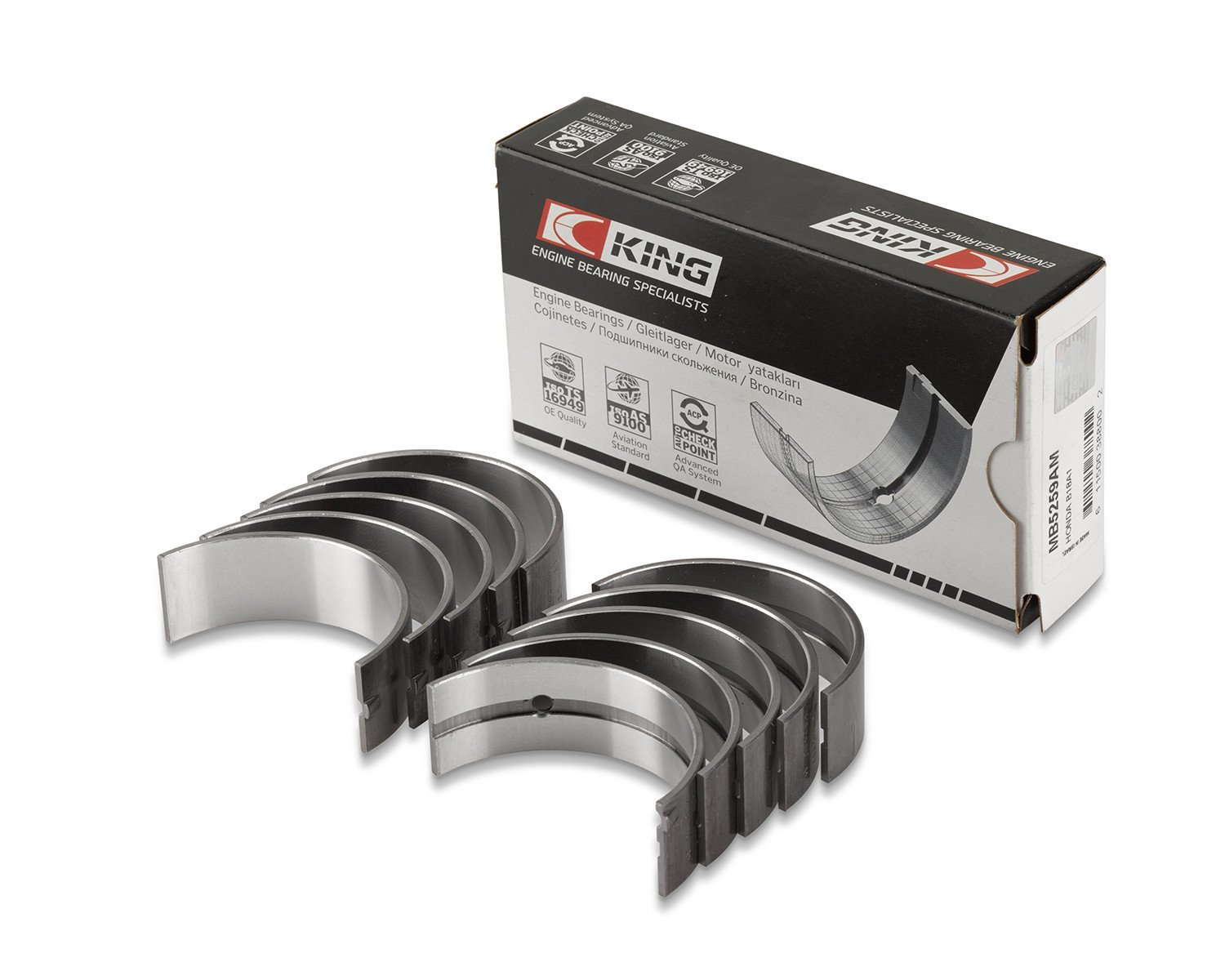 King Engine Bearings (CR 818SI STD) Conrod Bearings